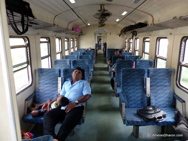 Our train carriage Colombo - Polonnaruwa
