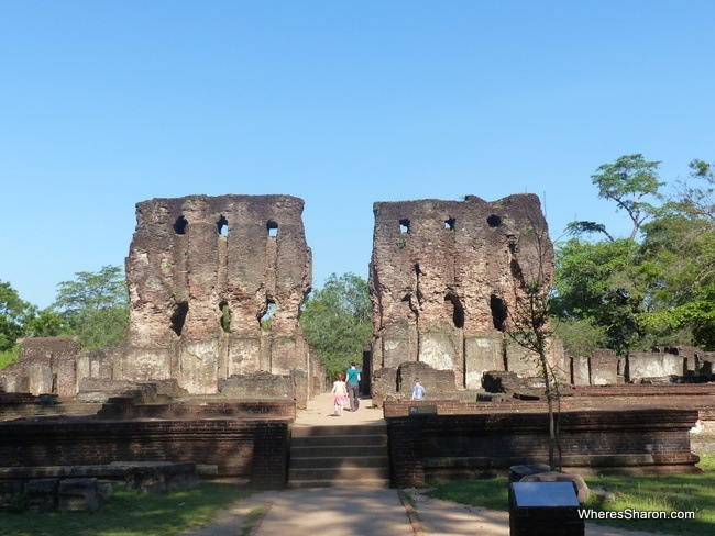royal palace at polonnaruwa ancient city