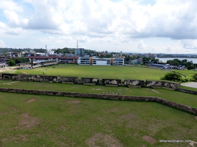 Galle International Cricket Stadium from the Fort walls