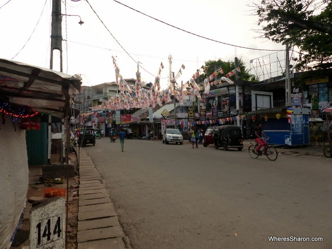 One of the main streets in Weligama Sri Lanka