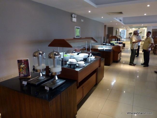 Breakfast buffet at The Sands Sri Lanka