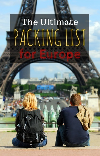packing for europe in summer  carry on only packing list