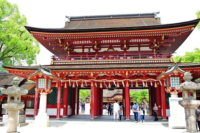 One of Fukuoka's many old shrines