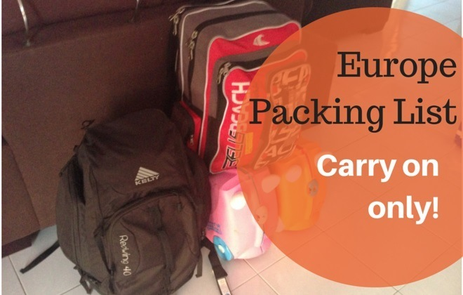 d7da068605e6 Packing for Europe in Summer  Carry On Only Packing List - Family ...