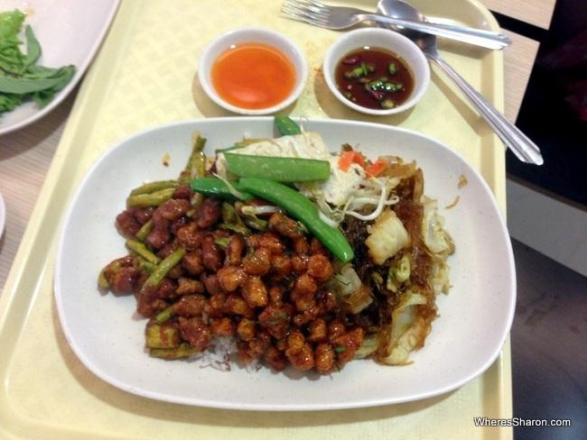 Some beautiful vegetarian food at MBK