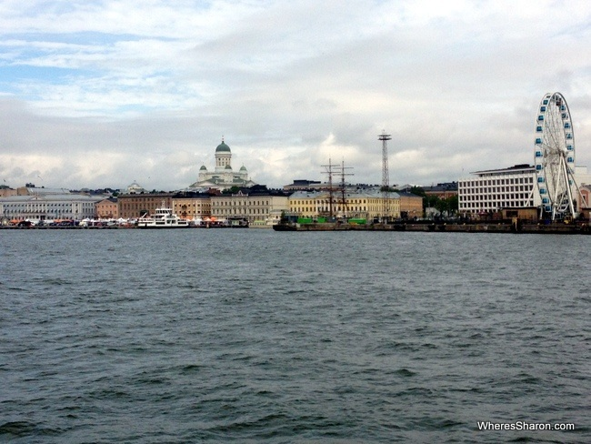 Market Square, the Skywheel and Helsinki Cathedral from the canal tour