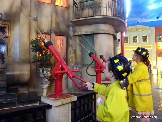 KidZania Bangkok fire fighting