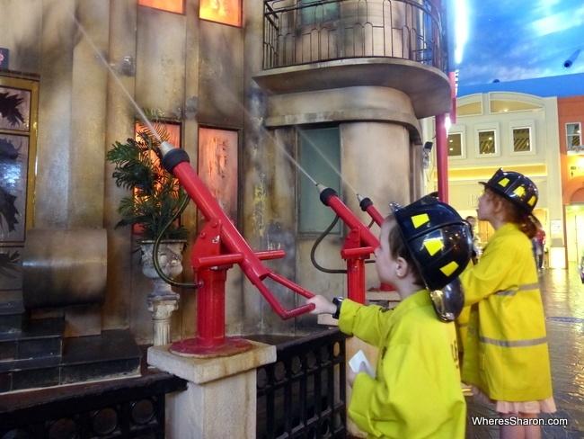 KidZania Bangkok fire fighting