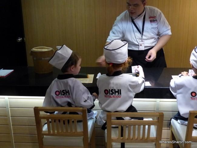 KidZania Bangkok sushi