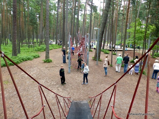 Dzintari Forest Park in Jurmala Latvia