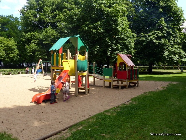The playground at Esplanade Riga