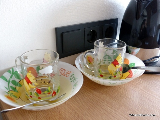 Kids crockery in our room at Sokos Hotel Tallinn