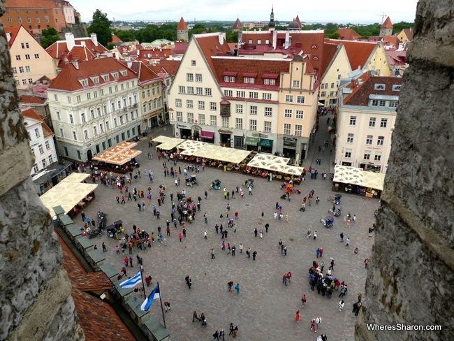 Town Hall Tower views in Tallinn