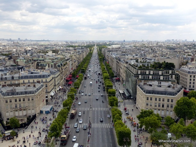 champs-elysee from arc de triomphe places to see in paris with kids