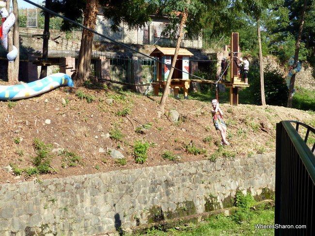 Pinocchio Park obstacle course