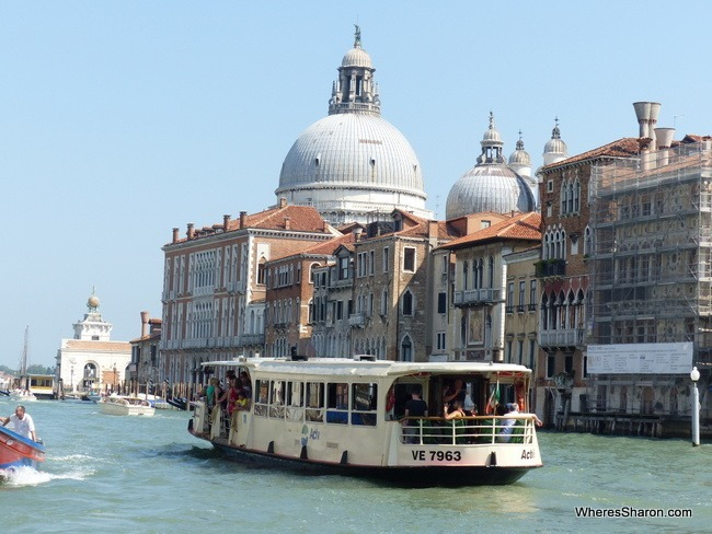 A Water Bus in Venice