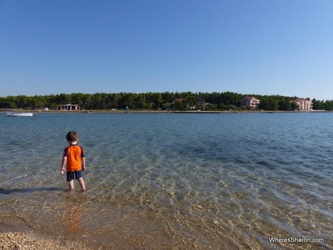 beach at Privlaka Croatia
