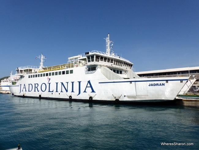 Jadrolinija ferry to brac
