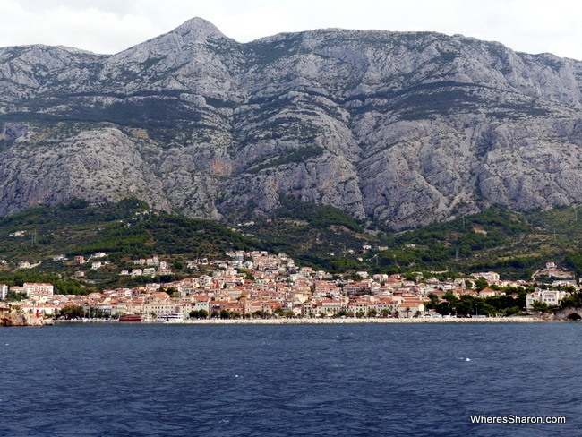 Makarska from the ferry
