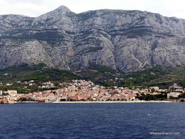Makarska from the ferry