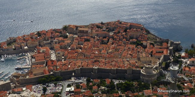 Dubrovnik old town from the cable car