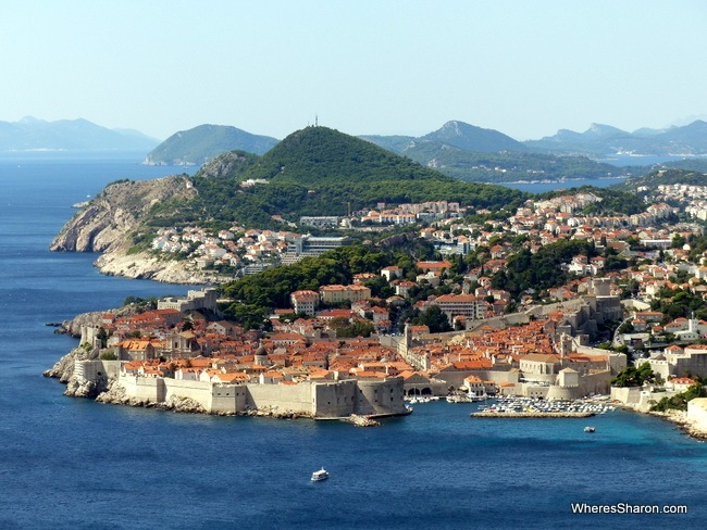 views of Dubrovnik Old Town