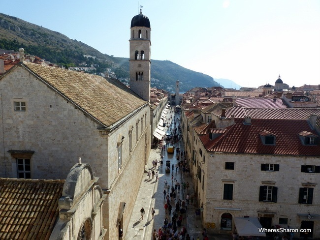Placa from City walls Dubrovnik