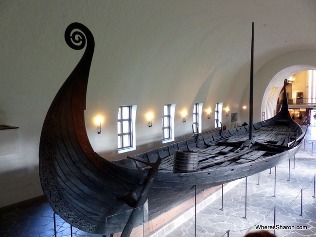 A Viking longship at the Viking Ship Museum.