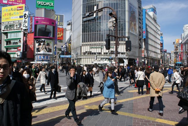 The busy streets of Tokyo