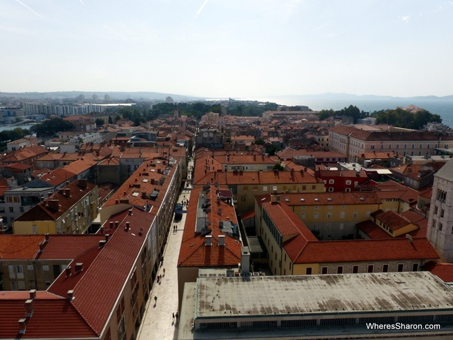Views over Zadar from the Bell Tower