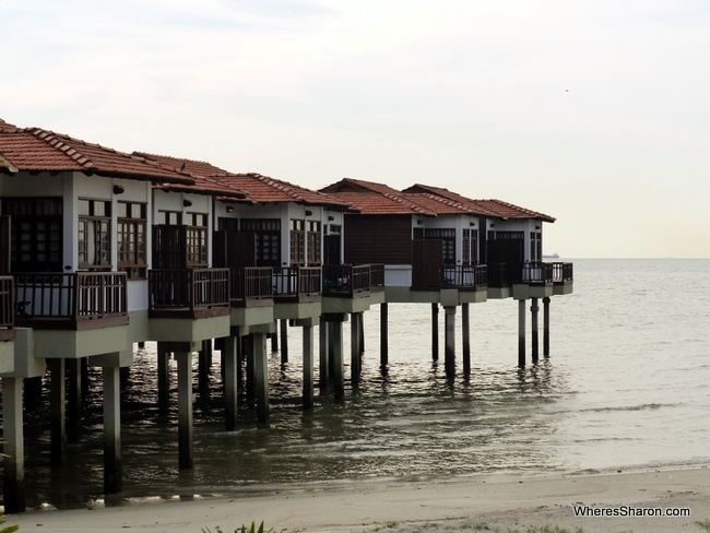 water chalets at Avillion Port Dickson