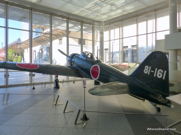 A Mitsubishi Zero fighter in the Yakusuni museum.