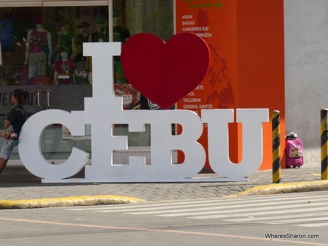 I love Cebu sign