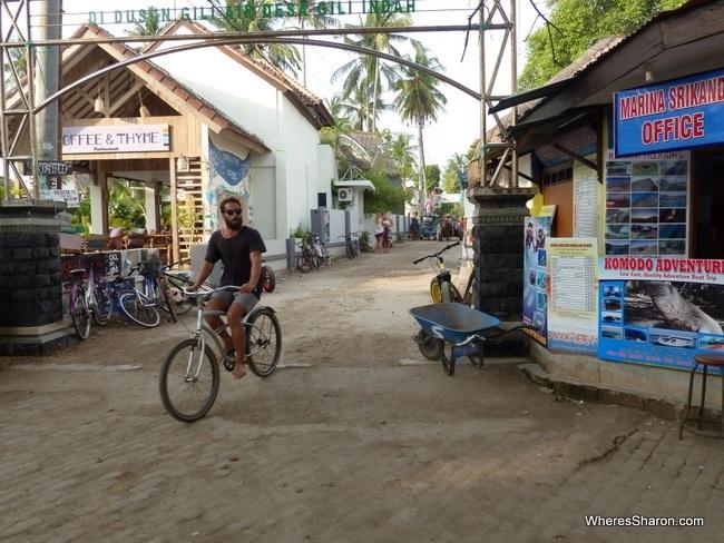 bike riding on Gili Islands