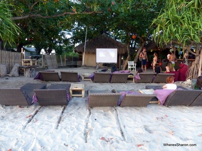Beach CLub Gili Islands cinema