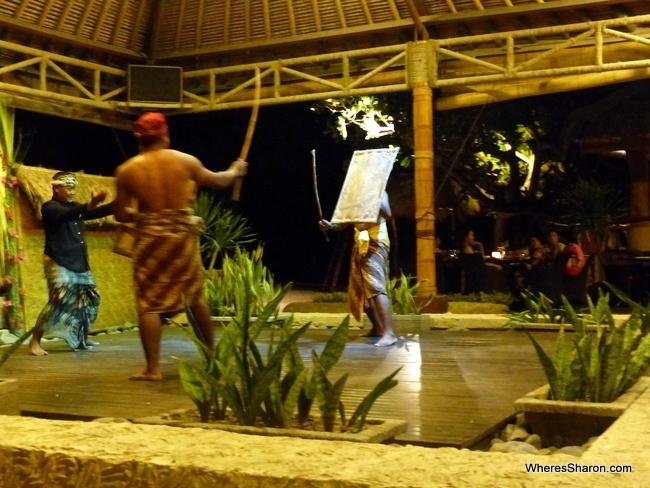 stick fighting on Lombok