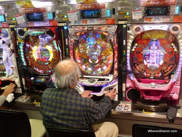 Confusing Pachinko in actiion...