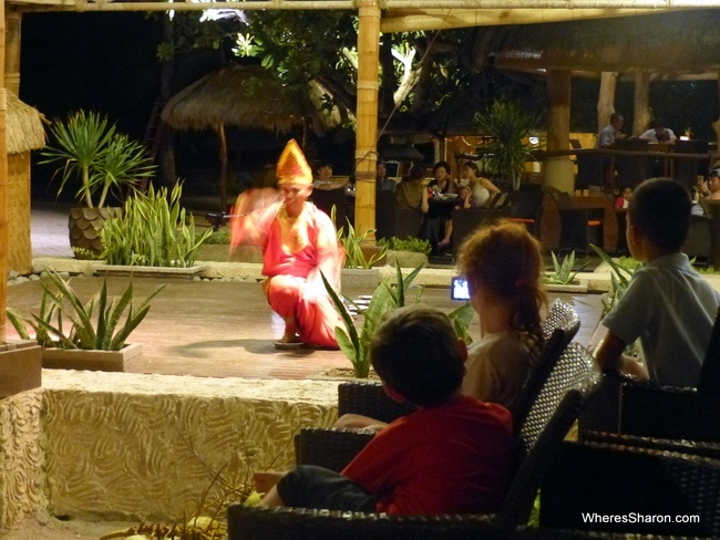 "The kids are entranced by a West Sumatran ""Plate"" Dance at the Novotel's Got Talent dinner show."