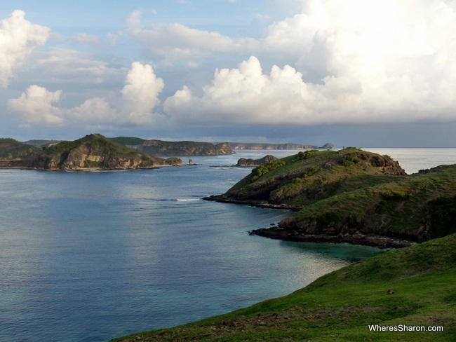 Looking out towards Batu Payung (the umbrella stone) in the south of Lombok