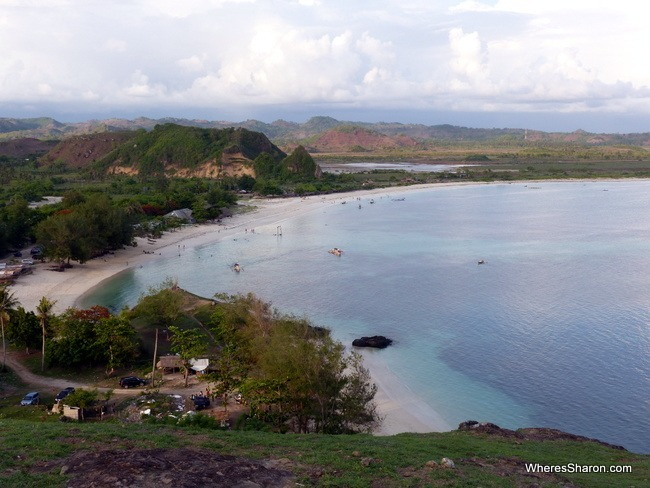 The view of Tanjung Ann's great beach from Bukit Merese.