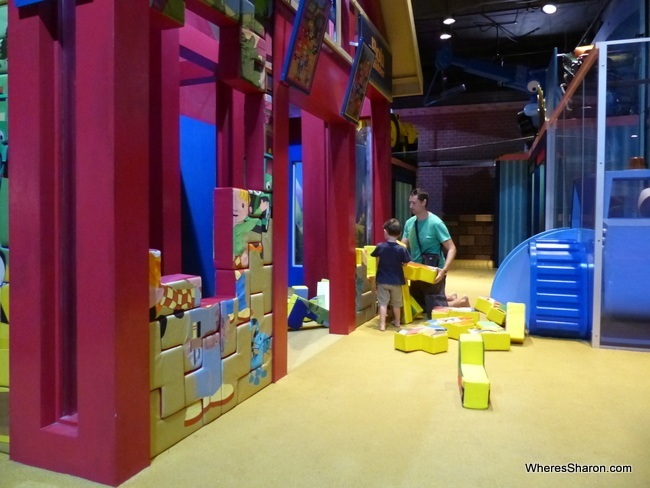 Exploring the Bob the Builder area at Thomas Town