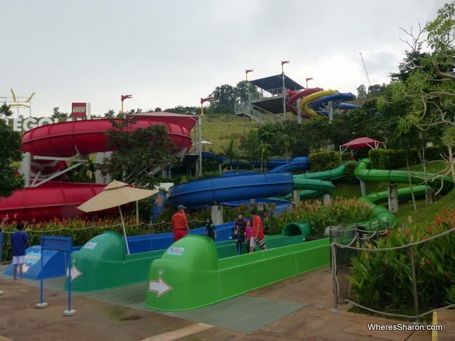 water slides at Legoland Water Park Malaysia