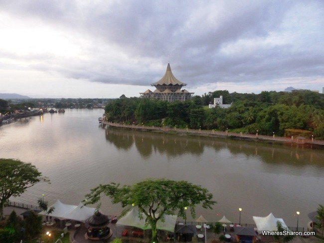 best hotel in kuching views from hilton