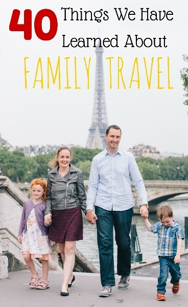 40 things we have learned about family trave