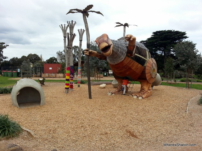 Dinosaur Park in Melbourne with kids