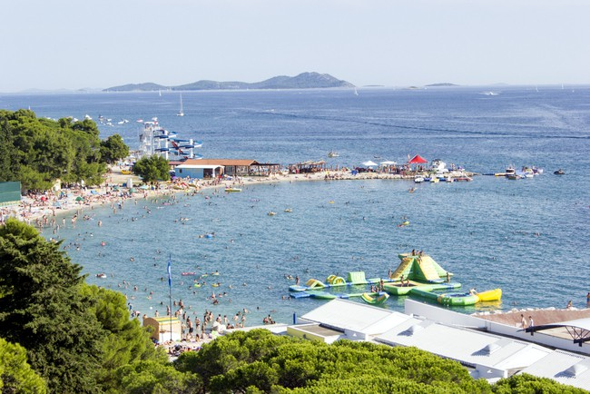 Biograd Beach Croatia for kids