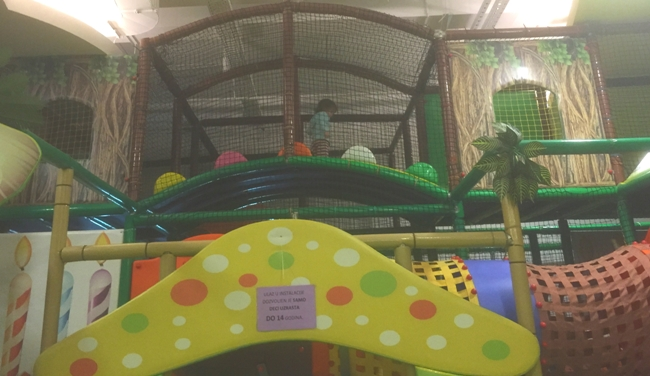 Climbing structure at Circus in Delta City Mall, New Belgrade