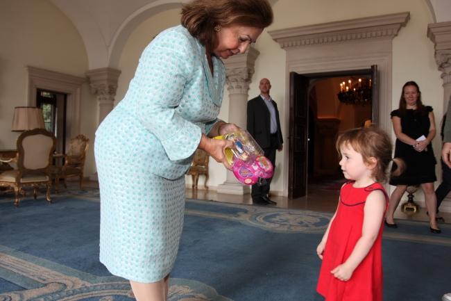 Meeting Princess Katerine at the Royal Palace
