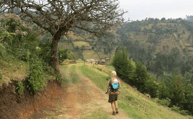 Kapsowar, Kenya with baby