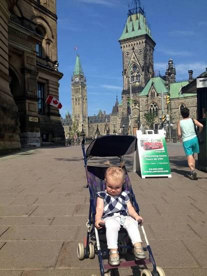 Ottawa Canada with baby